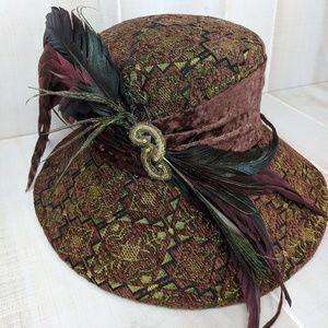 Vintage Donna Vinci Couture Feather Derby Hat
